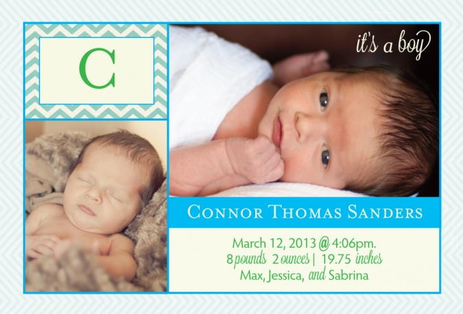 newborn baby announcement